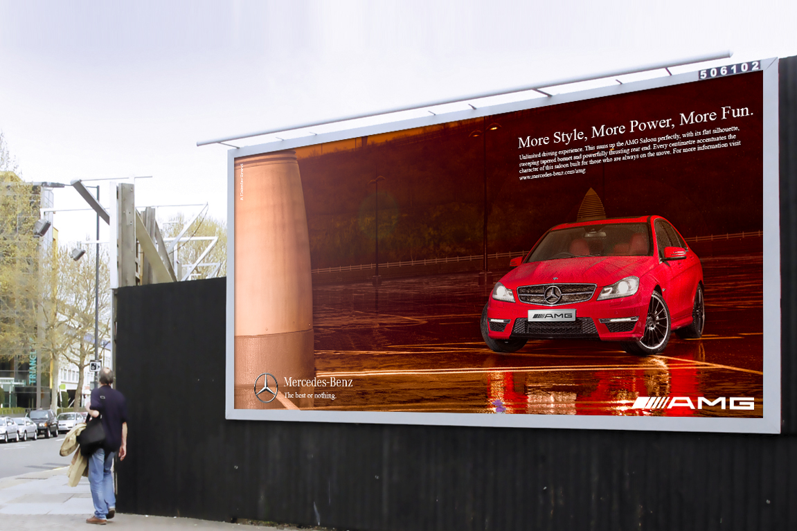 Mercedes Benz Amg Billboard Campaign By Darren Woolway