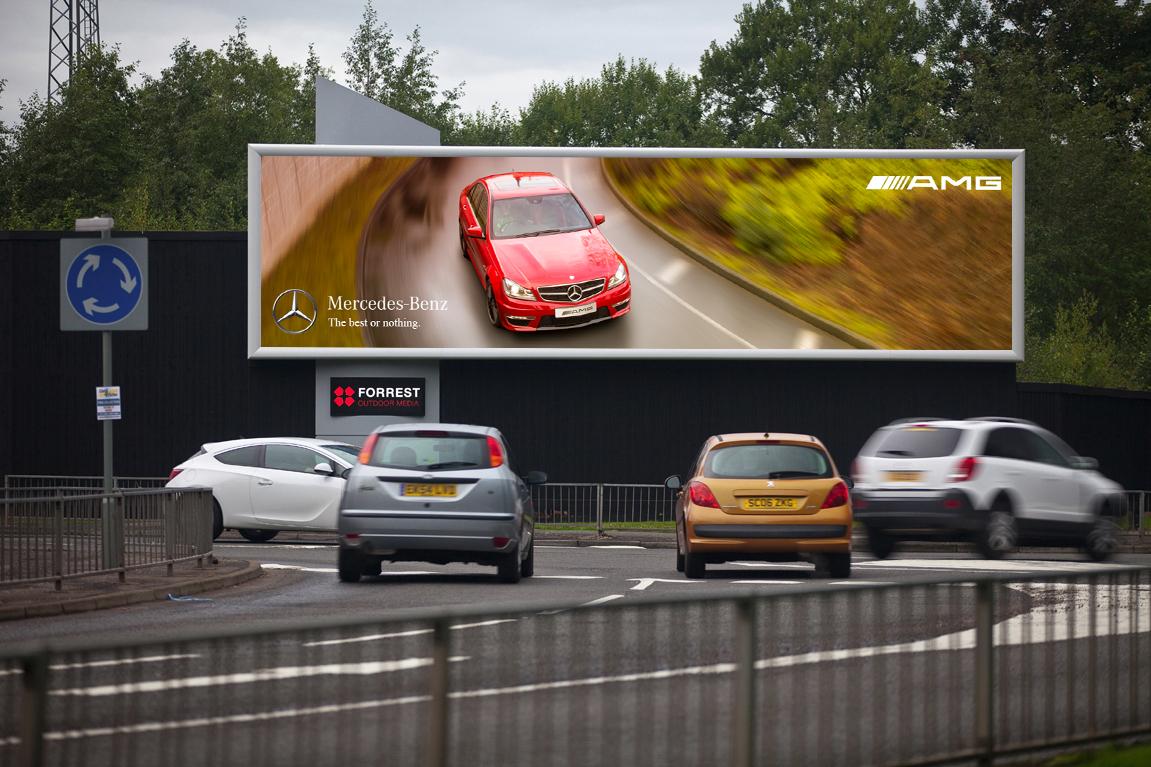 Mercedes C36 AMG Billboard Practice