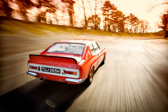MKI Ford Capri RS2600 Prototype at Brooklands Race Course.