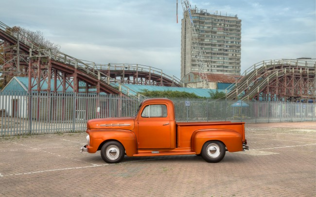 1952 Ford F1 Truck at Dreamland, Margate.