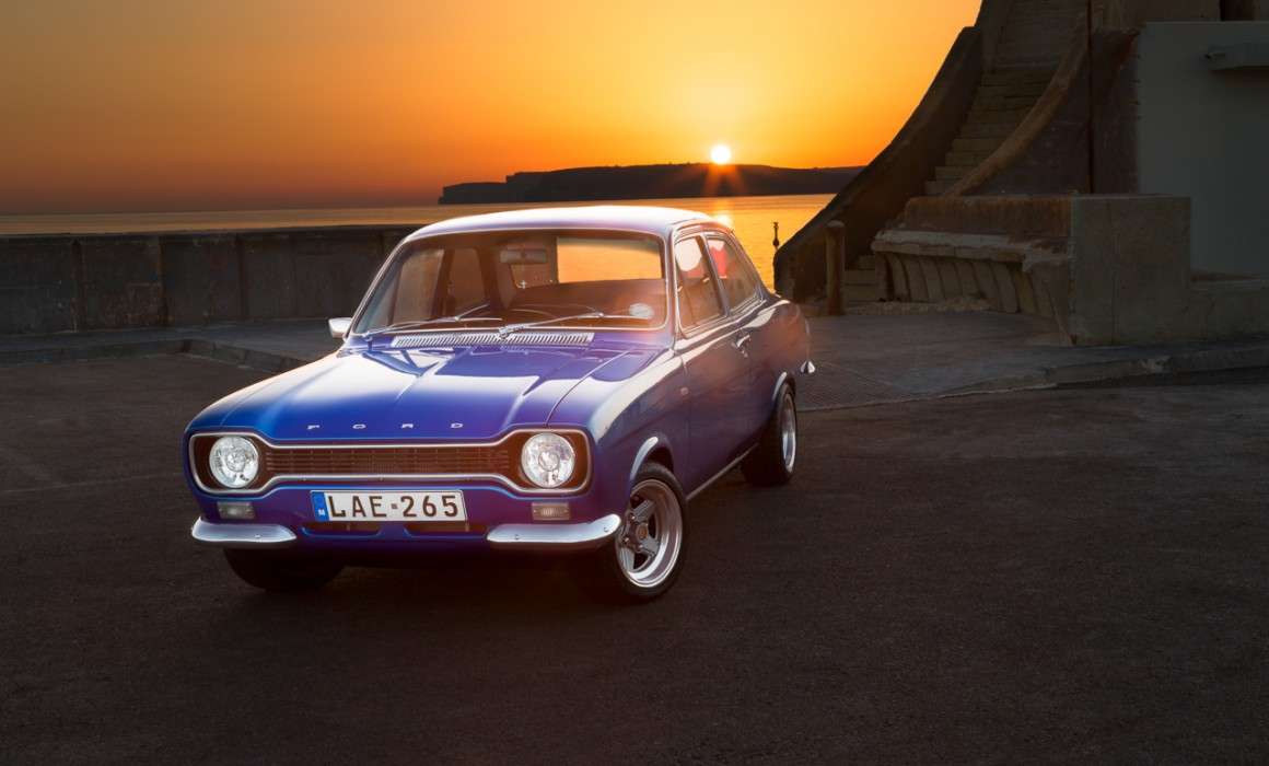 Blue MKI Ford Escort in Malta