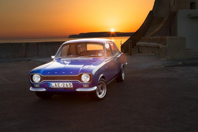 Blue MKI Ford Escort in Malta