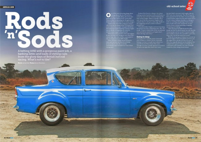 Classic Ford Magazine Aug 2015 - Zetec powered 105E Anglia