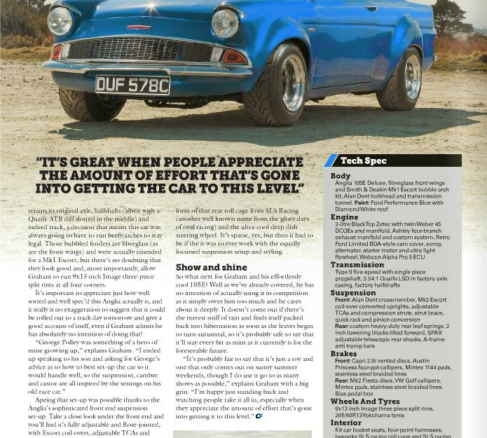 Classic Ford Magazine Aug 2015 - Zetec powered 105E Anglia