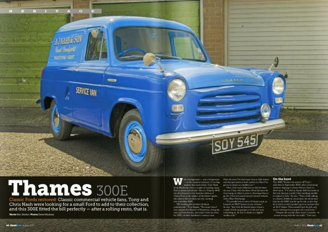 Classic Ford Magazine Aug 2015 - Thames 300E