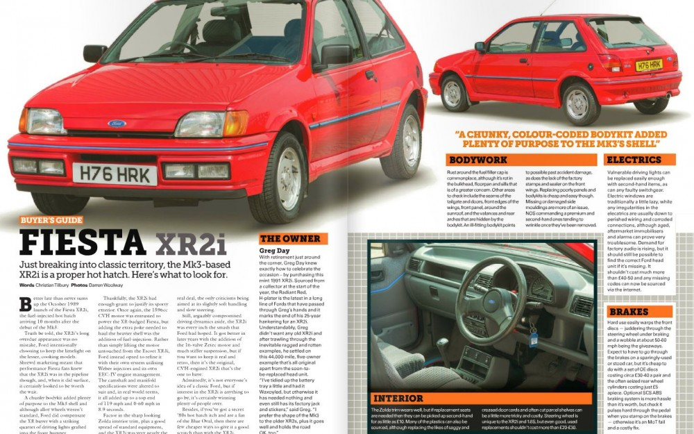 Classic Ford Magazine Aug 2015 - Fiesta XR2i