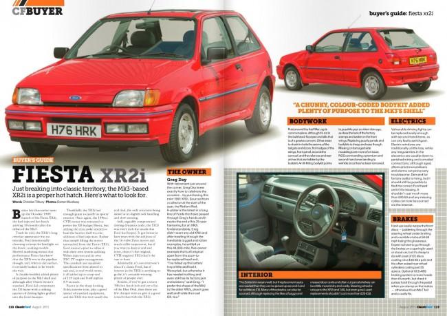 Classic Ford Magazine Aug 2015 - Fiesta XR2i