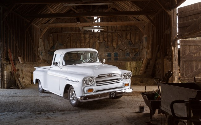 1959 Chevrolet Apache automotive photography for American Car Magazine