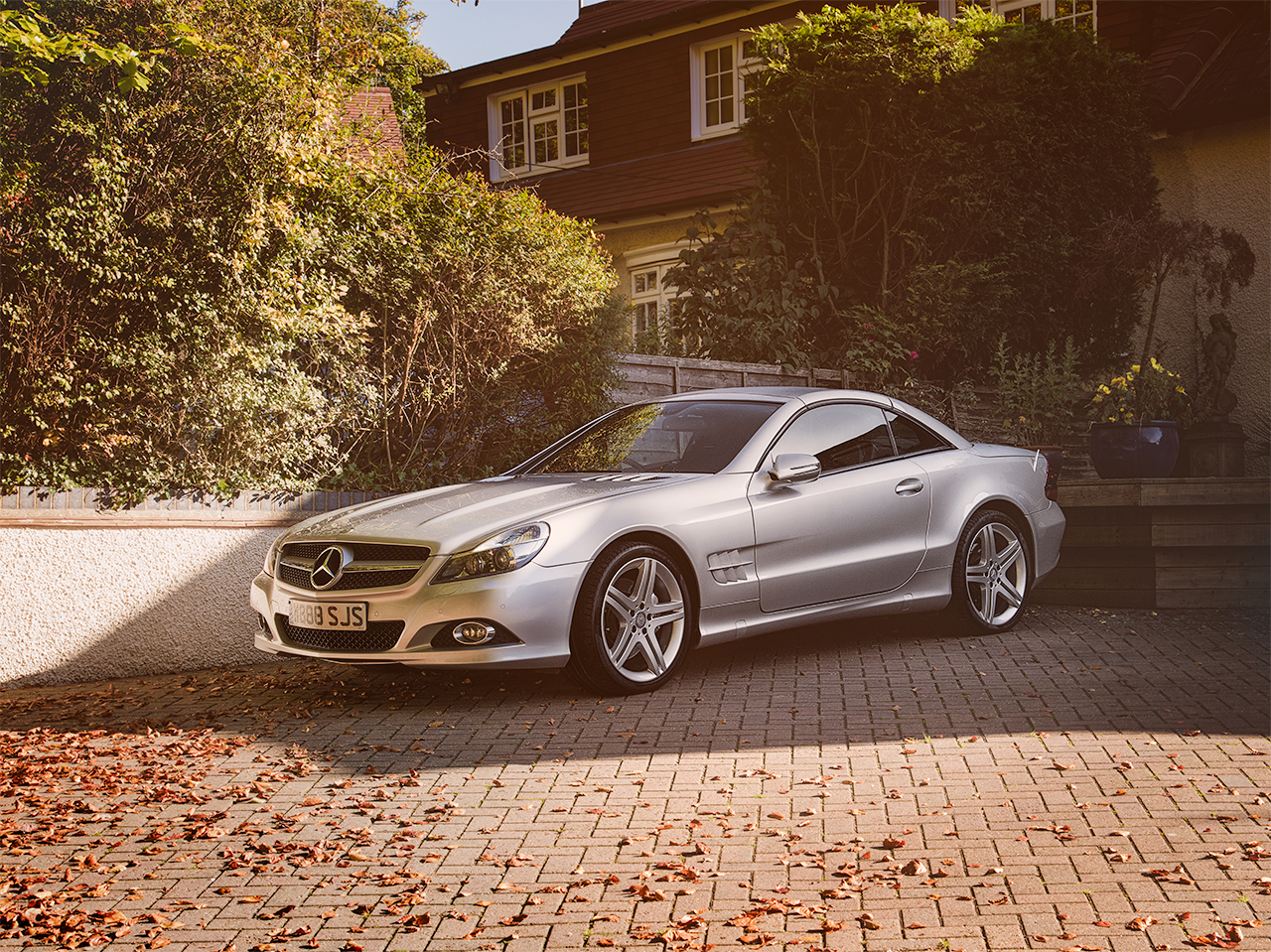 Mercedes SL550 by automotive photographer Kent Darren Woolway