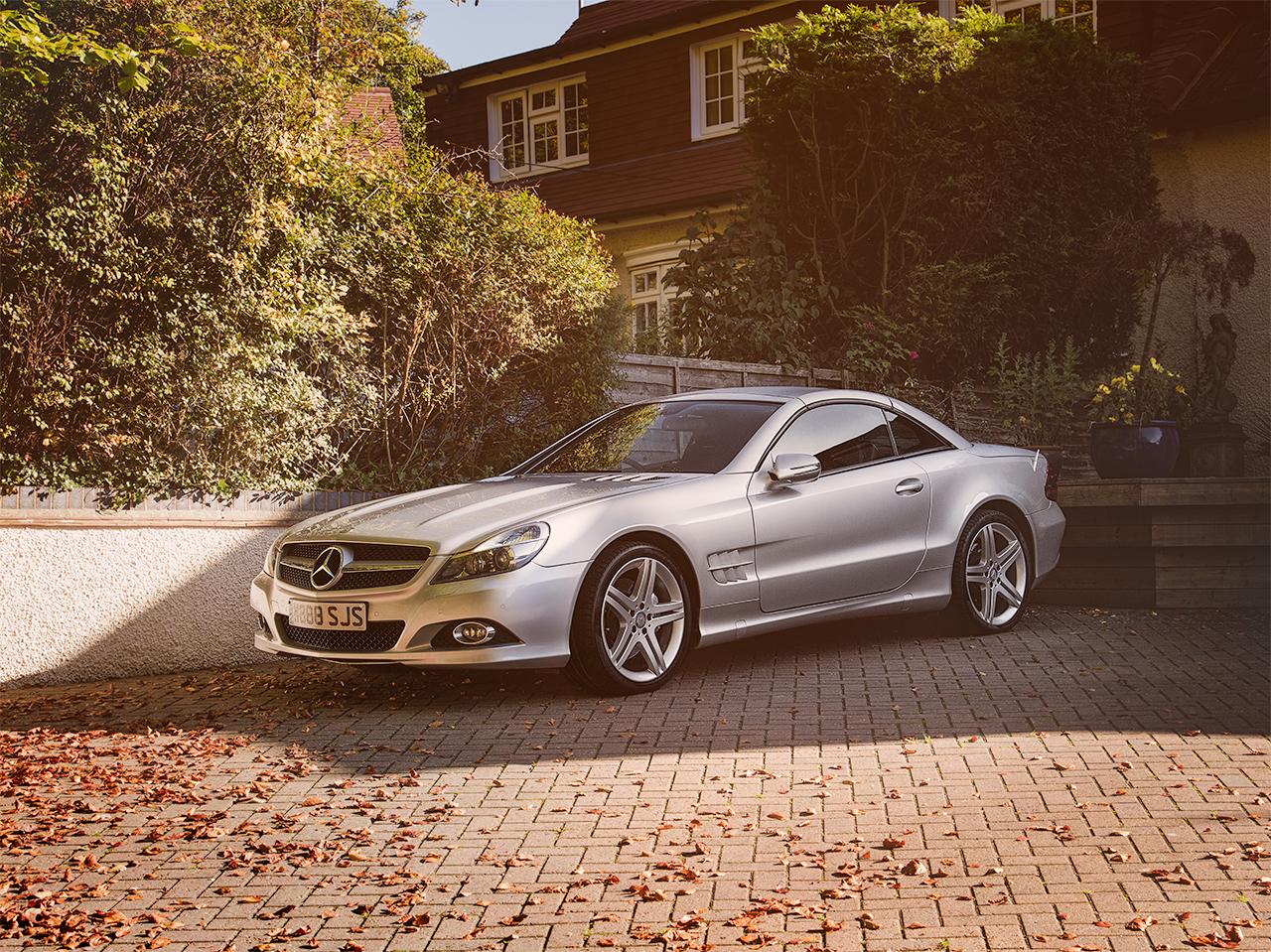 Mercedes SL550 by automotive photographer Kent Darren Woolway