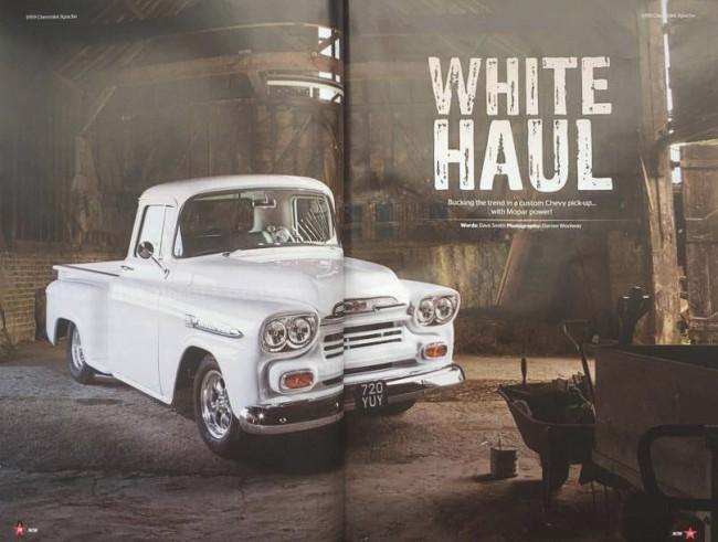 Automotive photographer shoots Chevy Apache for American Car Magazine