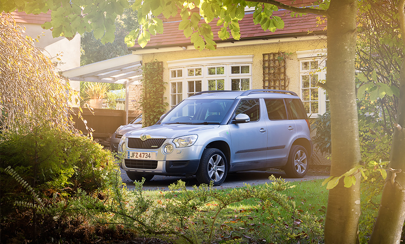 Skoda Yeti photographed by Automotive Photographer London Darren Woolway