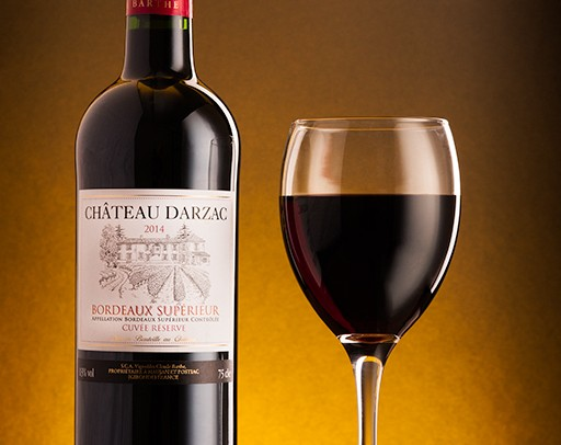 Chateau Darzac Wine Product photography in London