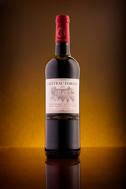 Chateau Darzac Wine Product photography in Kent