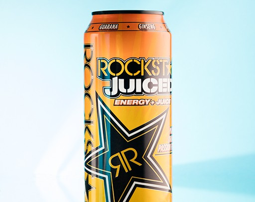 Rockstar energy drink product photography by Darren Woolway